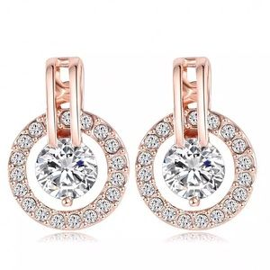 Jewelry - Rose Gold Plated Stud Drop Earrings